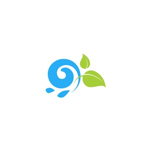 水樹葉矢量logo素材