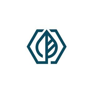 树叶矢量logo元素