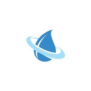 水滴矢量logo元素