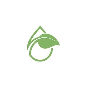 樹葉水滴地球矢量logo素材