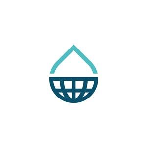 水滴地球矢量logo素材