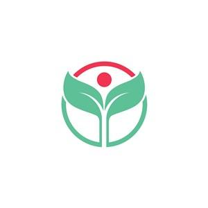 樹葉矢量logo元素