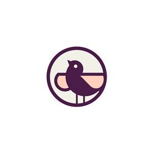 小鸟矢量logo元素