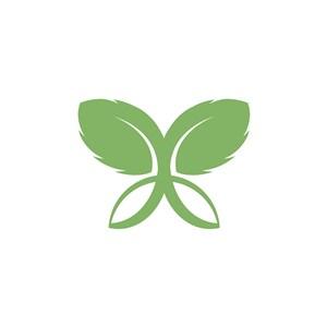 綠葉矢量logo素材