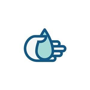 手水滴矢量logo素材