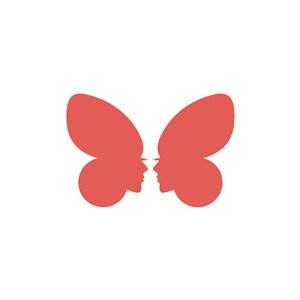人臉蝴蝶矢量標志