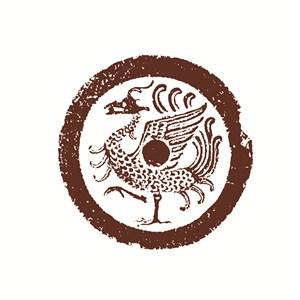 古代神兽朱雀矢量图案
