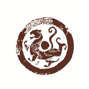 古代神兽白虎图案