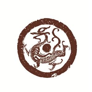 古代神兽青龙图案
