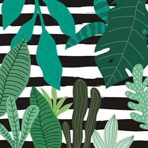 矢量卡通植物背景素材