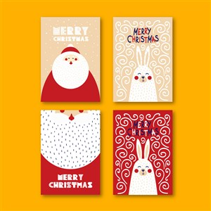 圣诞快乐矢量背景模板