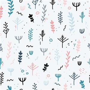 矢量卡通植物底紋背景