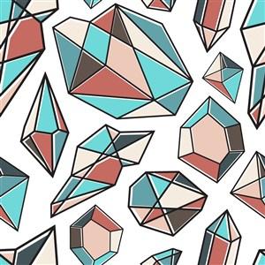 矢量钻石多边形背景