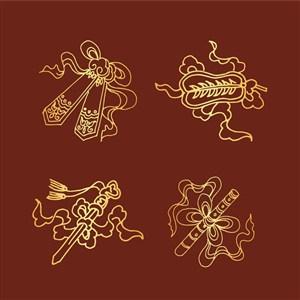古典中式花纹矢量素材