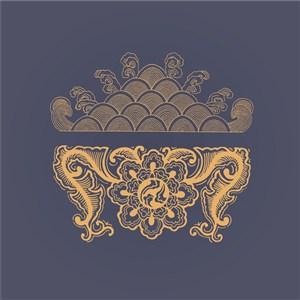 矢量中式花紋