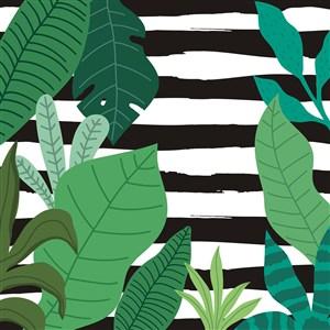 卡通矢量植物底纹背景