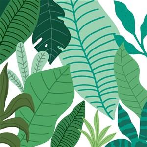 矢量卡通植物底纹