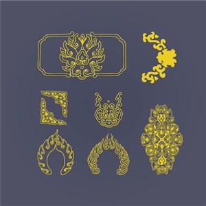 中式古典底纹图案
