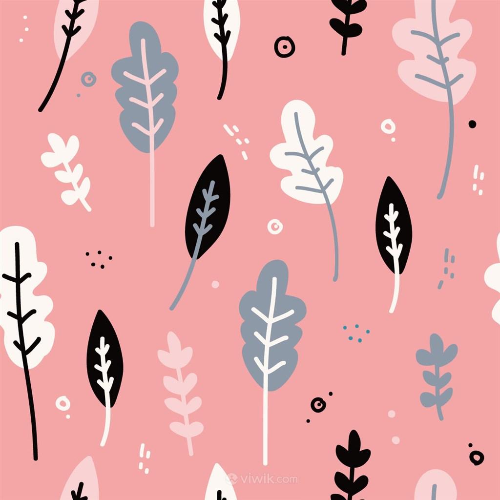 矢量卡通植物底纹背景