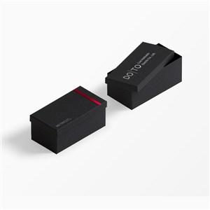 企業黑色包裝盒樣機