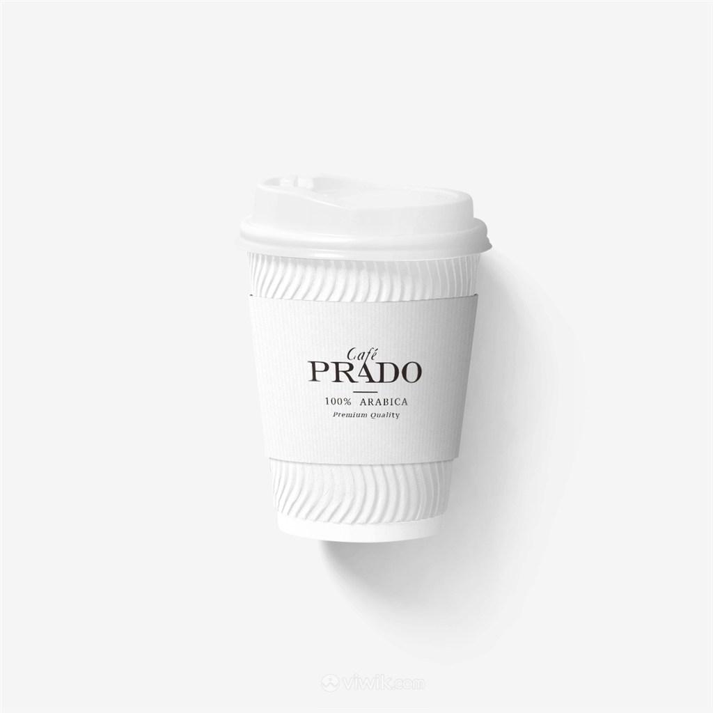 咖啡紙杯樣機模板