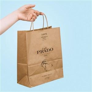 咖啡店纸质手提袋样机