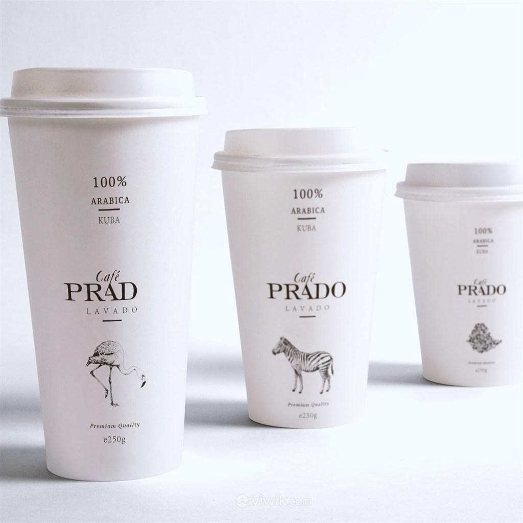 咖啡纸杯包装样机模板