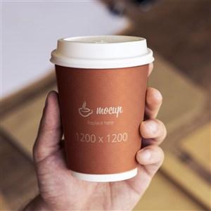 咖啡店一次性纸杯样机
