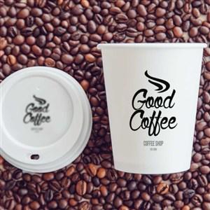 咖啡厅纸杯样机贴图