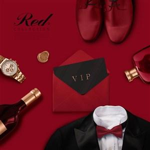 红色礼物海报设计
