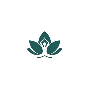 人物花朵矢量logo素材