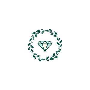 树叶钻石矢量logo素材