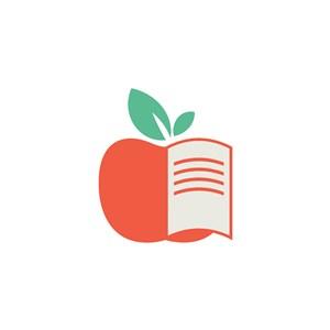 蘋果書矢量logo素材