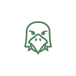鹰脸矢量logo素材