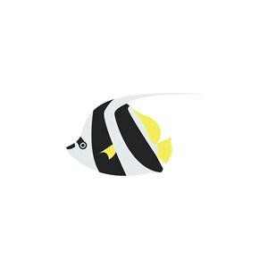 鱼矢量logo图标