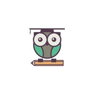 貓頭鷹矢量logo素材