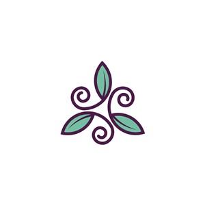 葉矢量logo圖標
