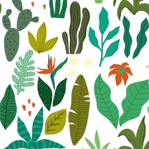 简约卡通植物背景素材