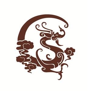 古典龍紋底紋素材