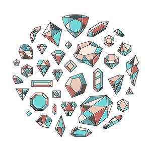 矢量多邊形寶石背景素材