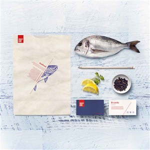 日式料理店环保袋VI物料
