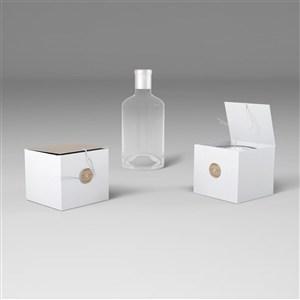 蜡烛产品包装盒样机