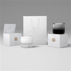 蜡烛产品包装盒贴图