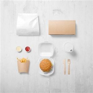 西餐厅包装样机贴图