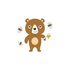 熊蜜蜂logo素材