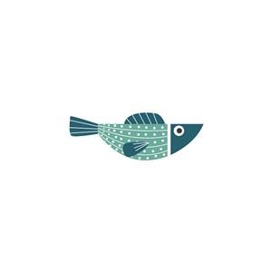 鱼矢量logo素材