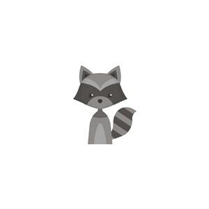 浣熊logo素材