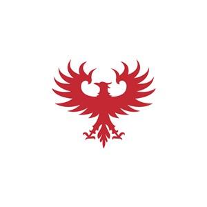红色鹰logo素材