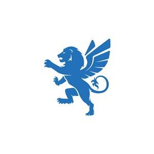 狮子翅膀logo素材