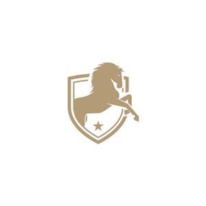 馬盾牌logo素材